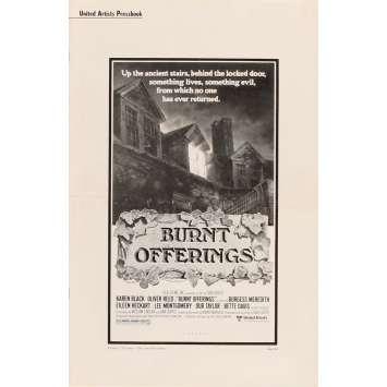 TRAUMA Dossier de Presse - US 1976 - Bette Davis, Burnt Offerings