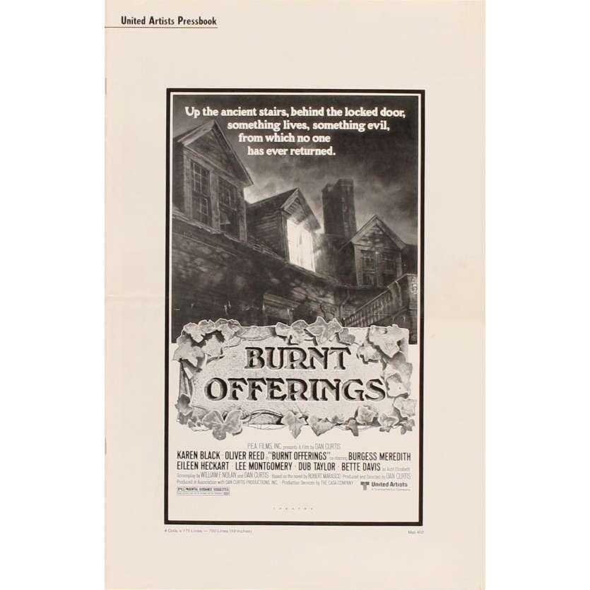 BURNT OFFERINGS pressbook US Horror Bette Davis