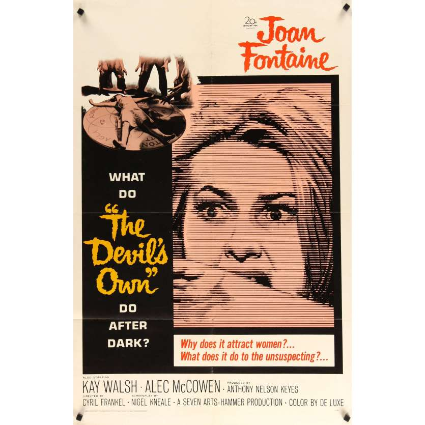 DEVIL'S OWN 1sh '67 Hammer, Joan Fontaine, what does it do to the unsuspecting