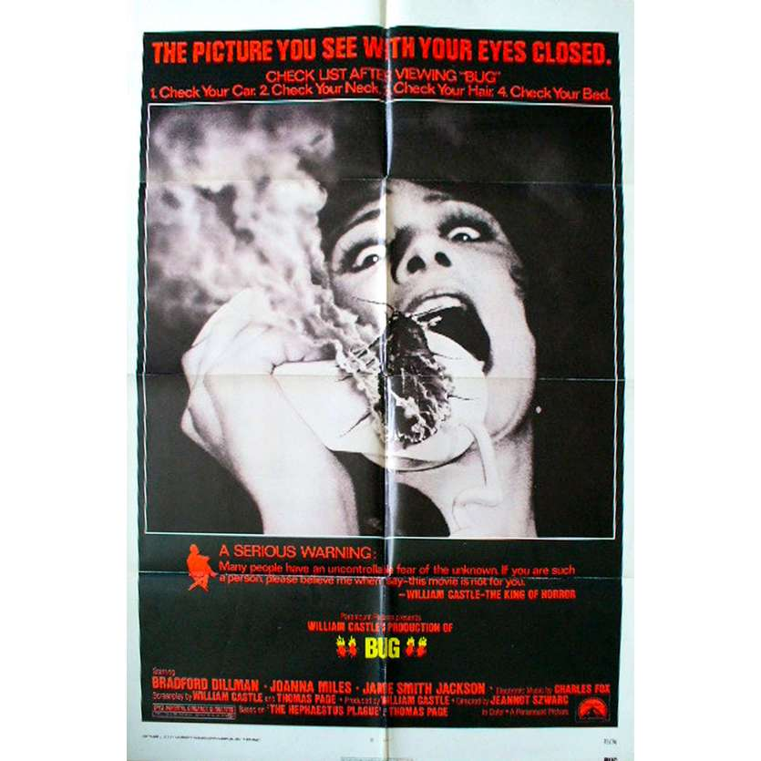 BUG Movie Poster '75 William Castle, Fire insects !
