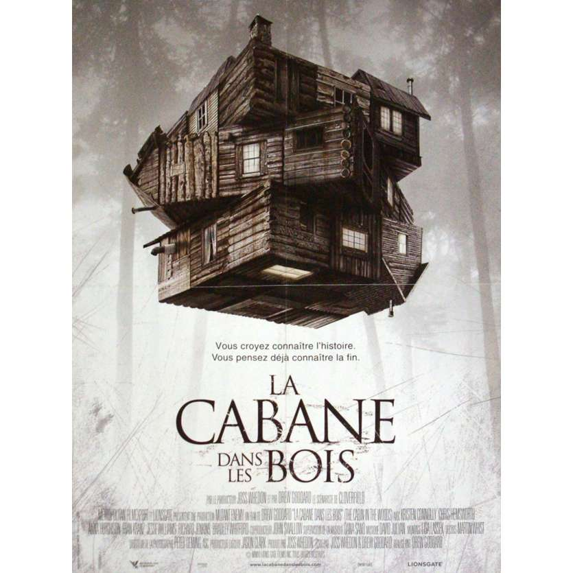 CABIN IN THE WOODS Affiche 40x60 FR '12 Chris Hemsworth
