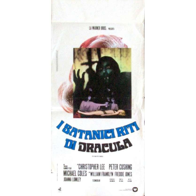 SATANIC RITES OF DRACULA Italian Locandina Movie Poster '74 Peter Cushing, Hammer