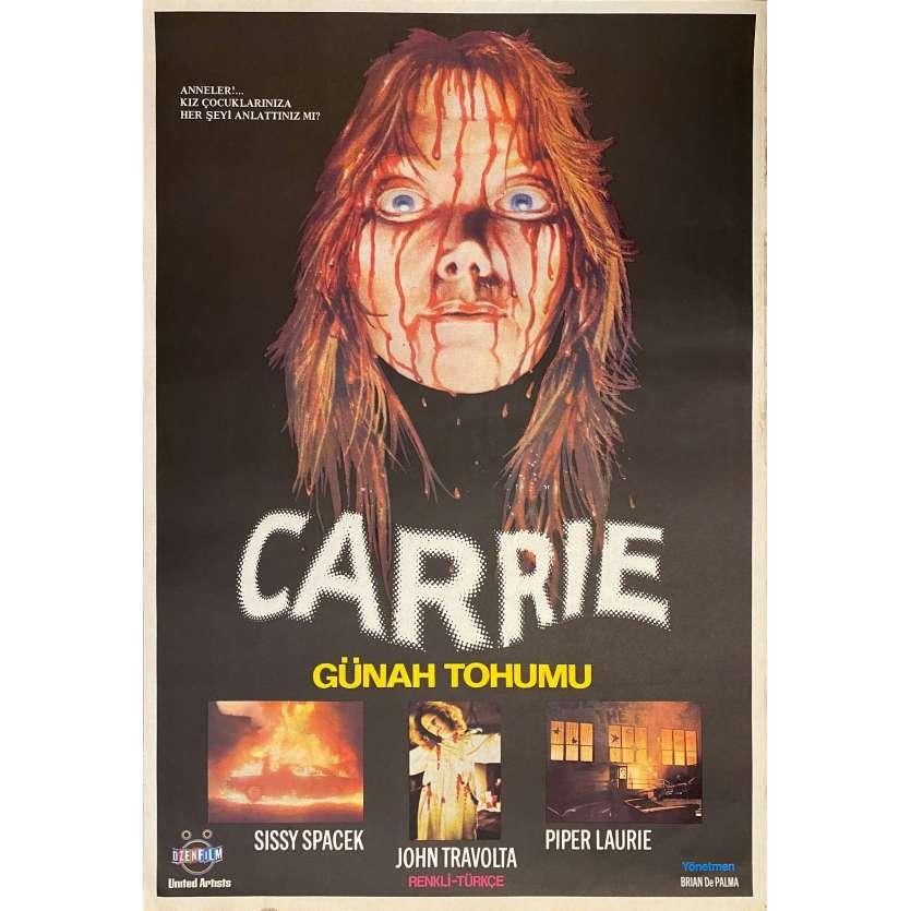 CARRIE Turkish '81 Stephen King, Sissy Spacek, Brian de Palma Horror