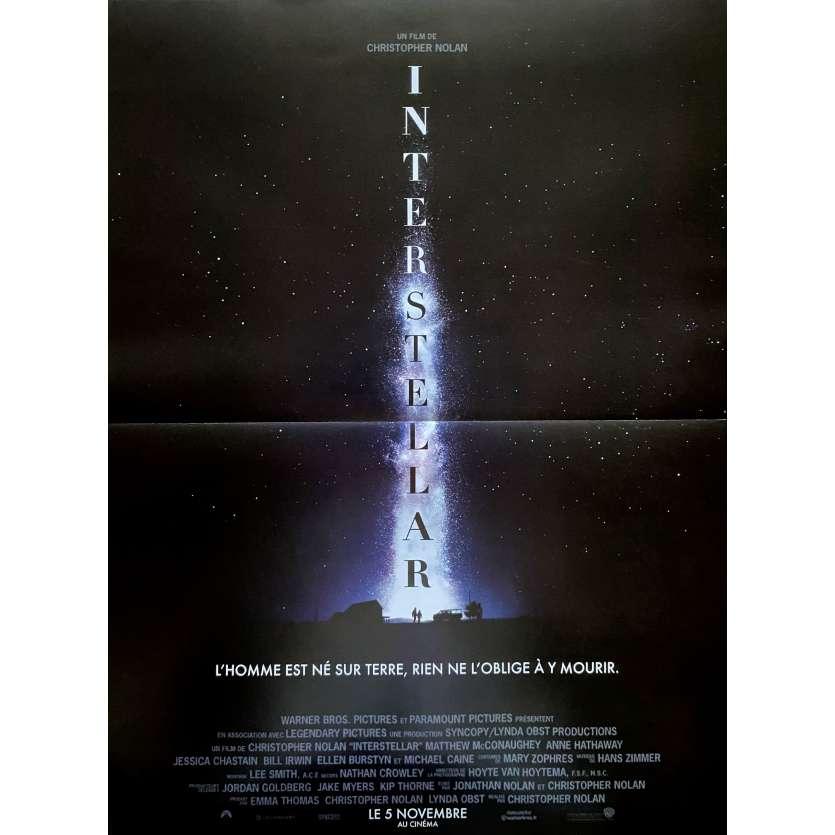 INTERSTELLAR French Advance Movie Poster15x21 - 2014 - Christopher Nolan, Matthew McConaughey