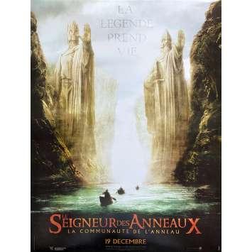 LE SEIGNEUR DES ANNEAUX - LA COMMUNAUTE Original Movie Poster- 15x21 in. - 2001 - Peter Jackson, Viggo Mortensen