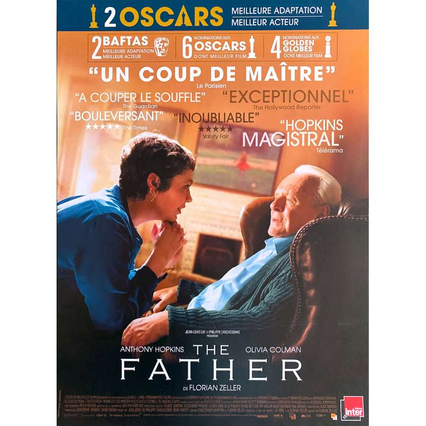 THE FATHER Original Movie Poster- 15x21 in. - 2020 - Florian Zeller, Anthony Hopkins, Olivia Colman