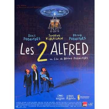 LES DEUX ALFRED Affiche de film- 40x60 cm. - 2020 - Denis Podalydès, Bruno Podalydès