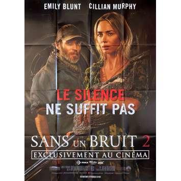 SANS UN BRUIT 2 Affiche de film- 120x160 cm. - 2020 - Emily Blunt, John Krasinski