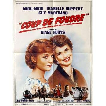 COUP DE FOUDRE Affiche de film- 60x80 cm. - 1983 - Isabelle Huppert, Diane Kurys