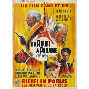 DU RIFIFI A PANAME Affiche de film- 35x55 cm. - 1966 - Jean Gabin, Denys de La Patellière