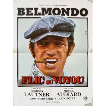 FLIC OU VOYOU Affiche de film- 40x60 cm. - 1979 - Jean-Paul Belmondo, Georges Lautner