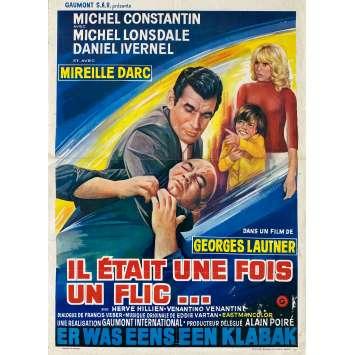 IL ETAIT UNE FOIS UN FLIC Affiche de film- 35x55 cm. - 1972 - Alain Delon, Georges Lautner