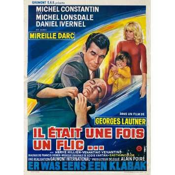 THERE WAS ONCE A COP Original Movie Poster- 14x21 in. - 1972 - Georges Lautner, Alain Delon