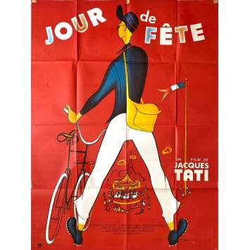 JOUR DE FETE Affiche de film- 120x160 cm. - 1949 - Paul Frankeur, Jacques Tati