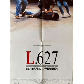 L627 Affiche de film- 60x80 cm. - 1992 - Didier Bezace, Bertrand Tavernier
