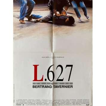 L627 Original Movie Poster- 23x32 in. - 1992 - Bertrand Tavernier, Didier Bezace