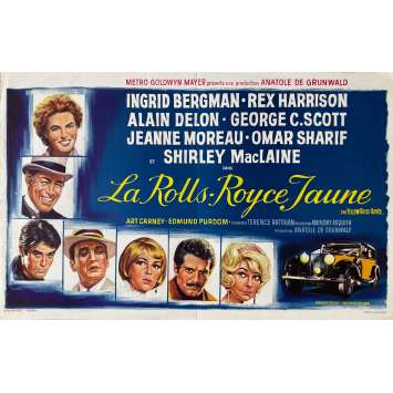 THE YELLOW ROLLS-ROYCE Original Movie Poster- 14x21 in. - 1964 - Anthony Asquith, Alain Delon