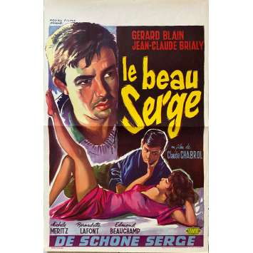 LE BEAU SERGE Original Movie Poster- 14x21 in. - 1958 - Claude Chabrol, Jean-Claude Brialy