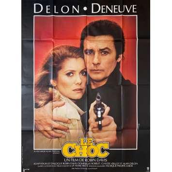 LE CHOC Affiche de film- 120x160 cm. - 1982 - Alain Delon, Catherine Deneuve, Robin Davis