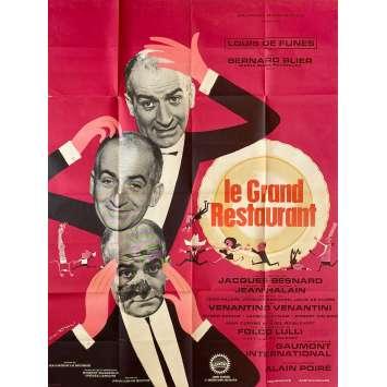 THE RESTAURANT Original Movie Poster- 47x63 in. - 1966 - Jacques Besnard, Louis de Funès