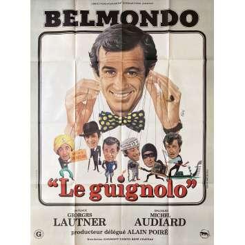 LE GUIGNOLO Affiche de film- 120x160 cm. - 1980 - Jean-Paul Belmondo, Georges Lautner