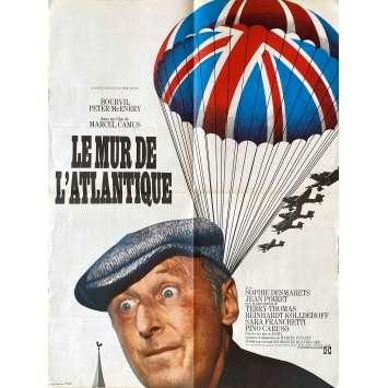 ATLANTIC WALL Original Movie Poster- 23x32 in. - 1970 - Marcel Camus, Bourvil