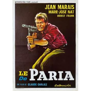 LE PARIA Affiche de film- 35x55 cm. - 1969 - Jean Marais, Claude Carliez