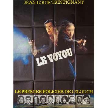LE VOYOU Affiche de film- 120x160 cm. - 1970 - Jean-Louis Trintignant, Claude Lelouch