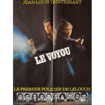 LE VOYOU Affiche de film- 60x80 cm. - 1970 - Jean-Louis Trintignant, Claude Lelouch