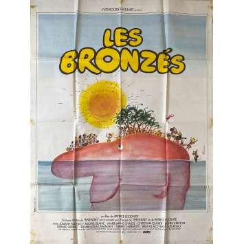 LES BRONZES Affiche de film- 120x160 cm. - 1978 - Le Splendid, Patrice Leconte