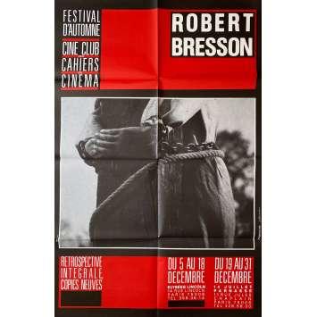 ROBERT BRESSON Affiche de film- 80x120 cm. - 1970 - 0, 0