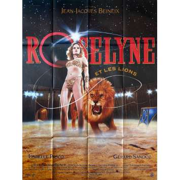 ROSELYNE AND THE LIONS Original Movie Poster- 47x63 in. - 1989 - Jean-Jacques Beineix, Isabelle Pasco