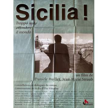 SICILIA Original Movie Poster- 47x63 in. - 1999 - Danièle Huillet, Gianni Buscareno