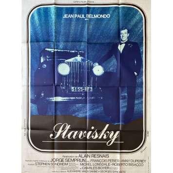 STAVISKY Affiche de film- 120x160 cm. - 1974 - Jean-Paul Belmondo, Alain Resnais