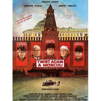 TWIST AGAIN IN MOSCOU Original Movie Poster- 15x21 in. - 1986 - Jean-Marie Poiré, Philippe Noiret