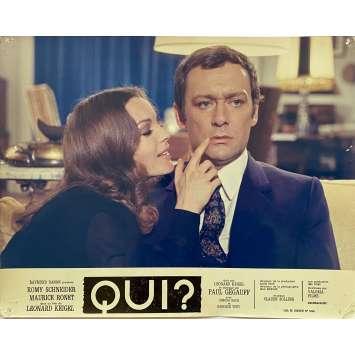 QUI? Original Lobby Card N02 - 10x12 in. - 1970 - Léonard Keigel, Romy Schneider