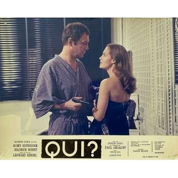 QUI? Original Lobby Card N01 - 10x12 in. - 1970 - Léonard Keigel, Romy Schneider