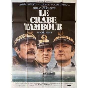 LE CRABE TAMBOUR Affiche de film- 120x160 cm. - 1977 - Jean Rochefort, Pierre Schoendoerffer