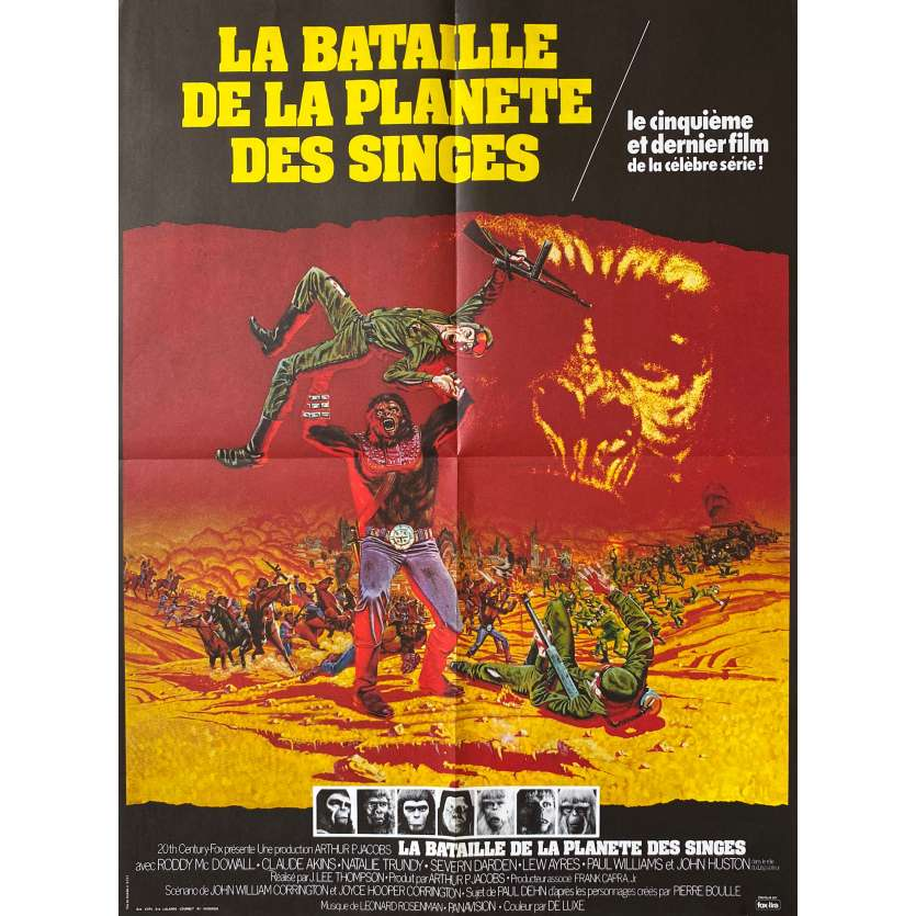 BATTLE FOR THE PLANET OF THE APES French Movie Poster - 1973-sci-fi