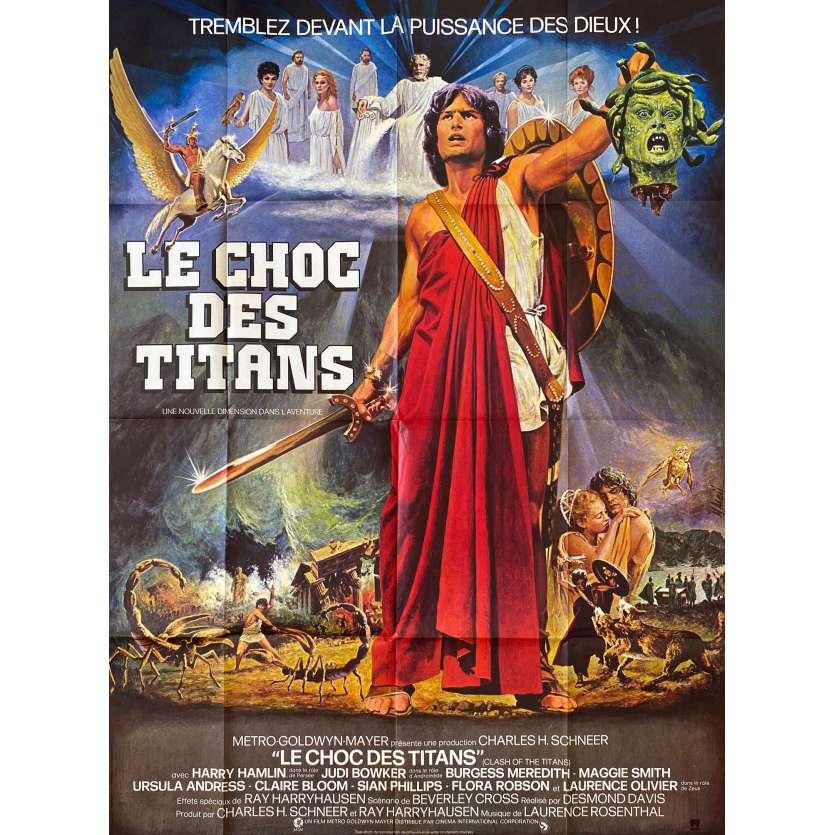 CLASH OF THE TITANS Movie Poster 47x63 '81 Ray Harryhausen