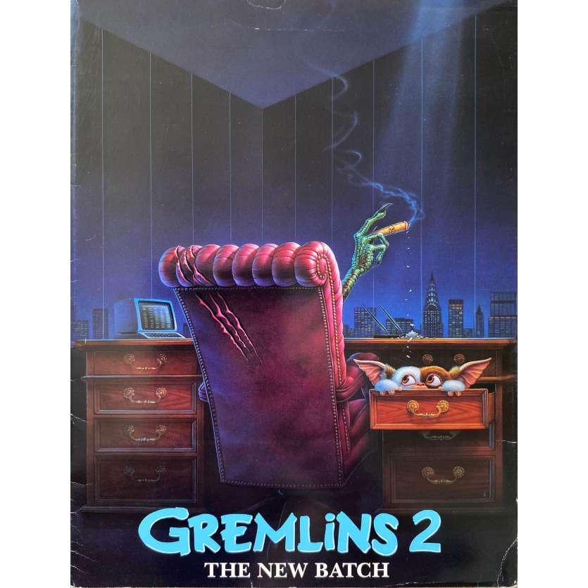 GREMLINS 2 Dossier de presse couverture seule. - 21x30 cm. - 1990 - Zach Galligan, Joe Dante