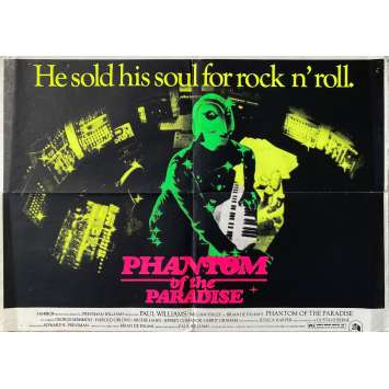 PHANTOM OF THE PARADISE Original Movie Poster- 23x33 in. - 1974 - Brian de Palma, Paul Williams