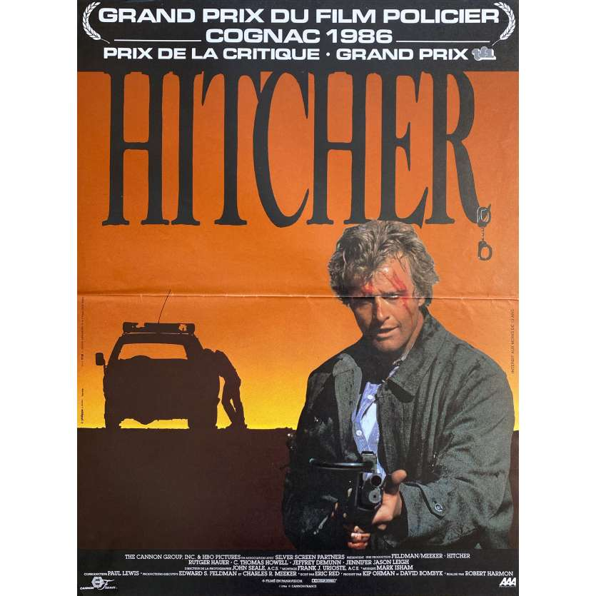 THE HITCHER Movie Poster - 15x21 - 1983 - Rutger Hauer