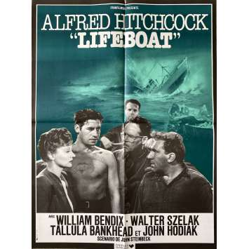 LIFEBOAT Original Movie Poster- 23x32 in. - R1980 - Alfred Hitchcock, Tallulah Bankhead