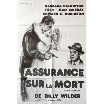ASSURANCE SUR LA MORT Affiche de film- 80x120 cm. - R1980 - Fred MacMurray, Billy Wilder