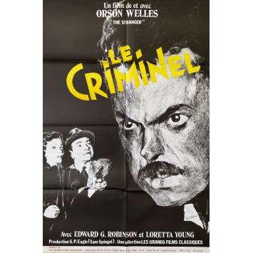 THE STRANGER Original Movie Poster- 32x47 in. - R1970 - Orson Welles, Loretta Young