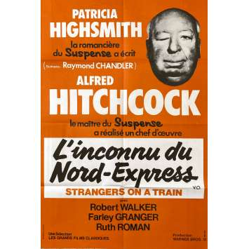 L'INCONNU DU NORD EXPRESS Affiche de film- 80x120 cm. - R1980 - Farley Granger, Alfred Hitchcock