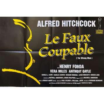 FAUX COUPABLE Affiche de film- 80x120 cm. - R1980 - Henry Fonda, Alfred Hitchcock