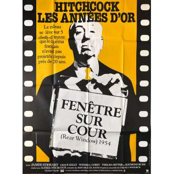 REAR WINDOW Original Movie Poster- 47x63 in. - R1980 - Alfred Hitchcock, James Stewart