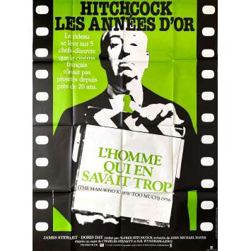 THE MAN WHO KNEW TOO MUCH Original Movie Poster- 47x63 in. - R1980 - Alfred Hitchcock, Peter Lorre